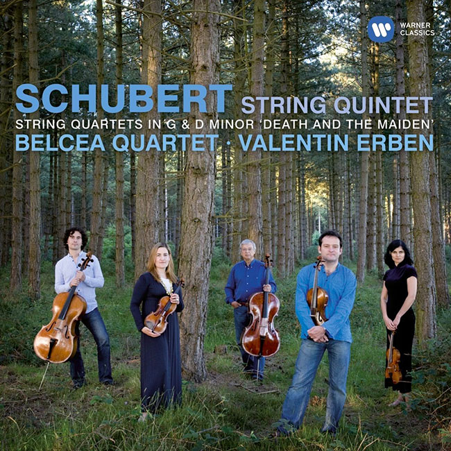 Schubert string quartet and quintet belcea